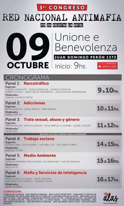 Evento OCT 15 Por un argentina sin mafias