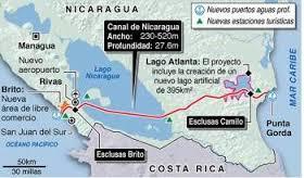 projecto canal de Nicaragua