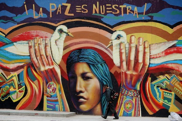 colombia paz  grafito